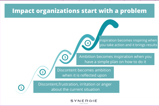 The build up of an impact organization according to Synergie